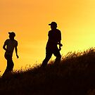 kids on a hill #1 by John Jovic