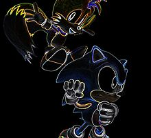 Classic Duo Sonic and Tails Glow design by ChaosSpyro