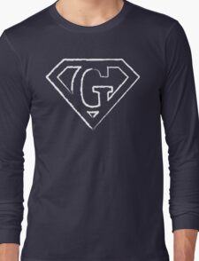 G letter in Superman style Long Sleeve T-Shirt