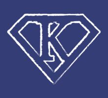 K letter in Superman style by Stock Image Folio