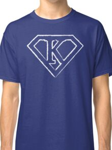 K letter in Superman style Classic T-Shirt