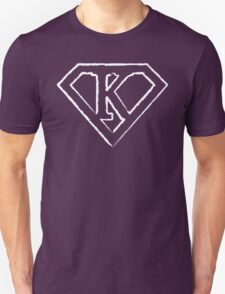 K letter in Superman style Unisex T-Shirt