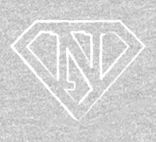 N letter in Superman style One Piece - Long Sleeve