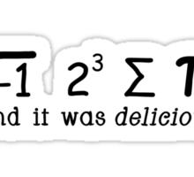 i 8 sum pi Sticker