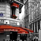 French Cafe at Notre Dame by Andrew Wilson