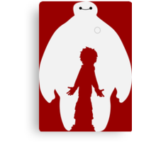 Baymax and Hiro (Big Hero 6) Canvas Print