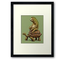 Speed is Relative Framed Print