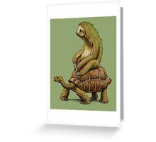 Speed is Relative Greeting Card