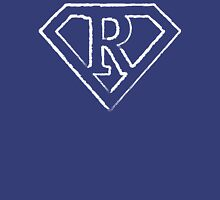 R letter in Superman style Unisex T-Shirt