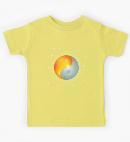 Yin Yang Sun and Moon Kids Tee