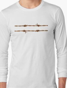 Rusty Barbed Wire Long Sleeve T-Shirt