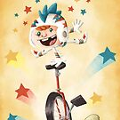 Unicycle Daredevil by Jeff Crowther