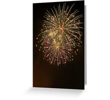 Fire Explosion Greeting Card