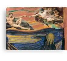 Mixed masters-The scream of Adam Canvas Print