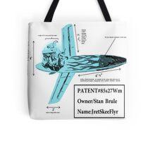 Stan Brule Flying Surfboard Blueprints Design by SmashBam Tote Bag