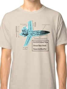 Stan Brule Flying Surfboard Blueprints Design by SmashBam Classic T-Shirt