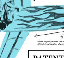 Stan Brule Flying Surfboard Blueprints Design by SmashBam Sticker