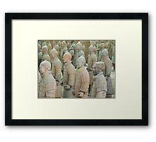 Terracotta Army Framed Print