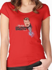 DOLPHIN SMOOTH Women's Fitted Scoop T-Shirt
