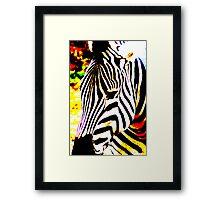 Funky Zebra Framed Print
