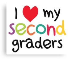 I Heart My Second Graders Teacher Love Canvas Print