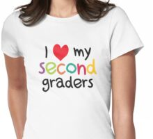 I Heart My Second Graders Teacher Love Womens Fitted T-Shirt