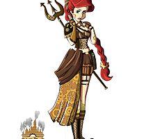 Steampunk Disney Princess - Ariel the little mermaid by Kurostars