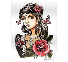 Butterfly Girl - tattoo Poster