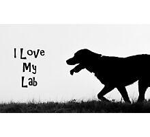 I Love my Lab Photographic Print