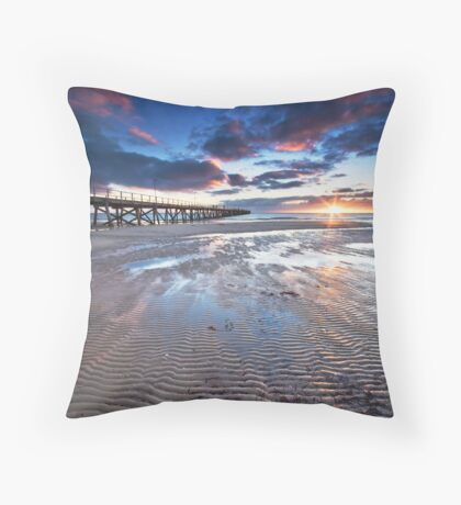 Semaphore Sunset Throw Pillow