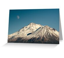 Moon over Shasta Greeting Card
