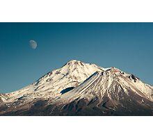 Moon over Shasta Photographic Print