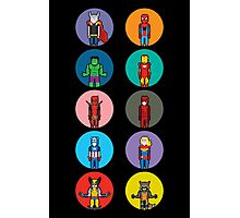 8Bit Marvel Characters Photographic Print
