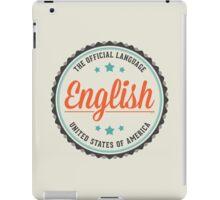 USA Official Language iPad Case/Skin