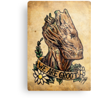 We Are Groot Old School Design Metal Print