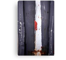 White Stripe Canvas Print