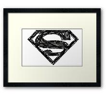 Superman Sketch Framed Print