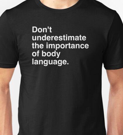 Body Language White Unisex T-Shirt