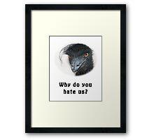 Black Power Emu Framed Print