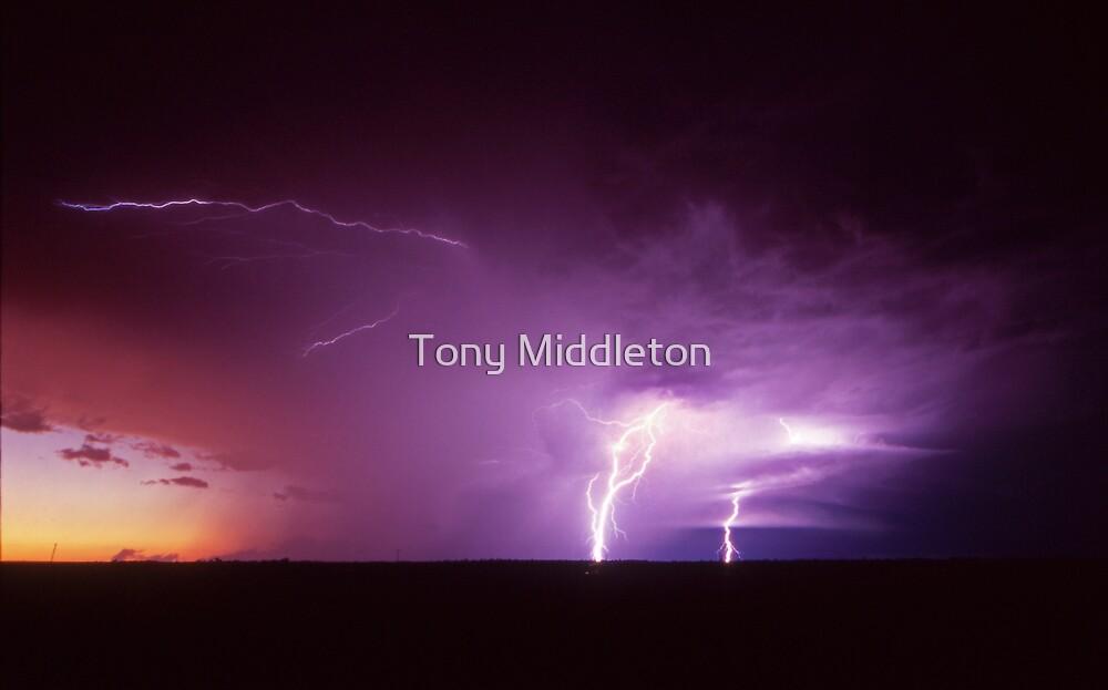 sunset storm by Tony Middleton