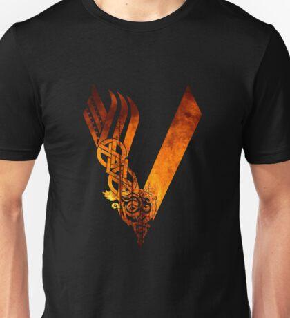 Vikings Logo - Fire Unisex T-Shirt