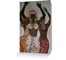 African Dance Trio Greeting Card