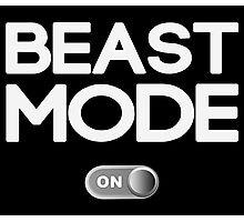 Beast Mode On Workout Photographic Print