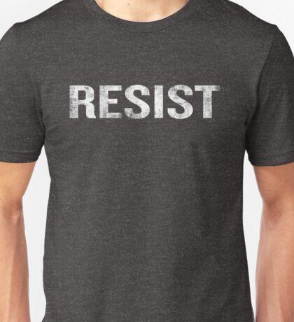 Resist Distressed Against Trump Politics Unisex T-Shirt