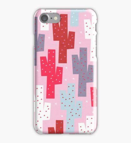 Sweet cactus pattern iPhone Case/Skin