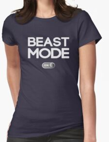 Beast Mode On Workout Womens Fitted T-Shirt
