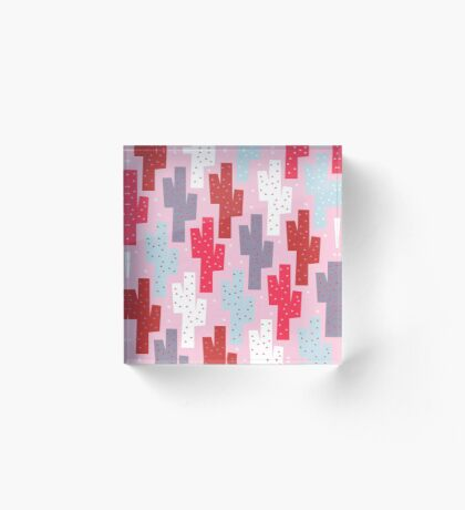 Sweet cactus pattern Acrylic Block