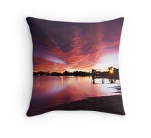 Majestic Morning - Lake Albert, Meningie Throw Pillow