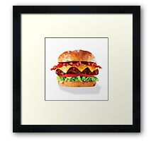 Geometric Bacon Cheeseburger Framed Print