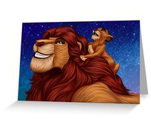 Lion King: Whenever You Feel Alone... Greeting Card